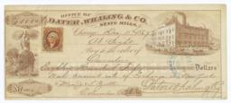 Dater, Whaling & Co. State Mills. Check - Recto