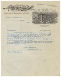 Montgomery Ward. Letter - Recto