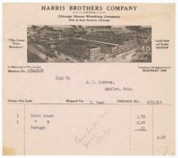 Harris Brothers Company. Bill - Recto