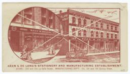 Keen & De Lang's Stationery and Manufacturing Establishment. Envelope - Recto