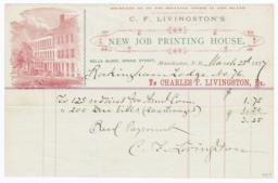 C. F. Livingston's Job Printing House. Bill - Recto