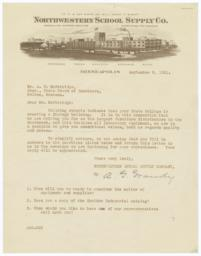 Northwestern School Supply Co.. Letter - Recto