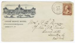 Union Depot Hotel. Envelope - Recto