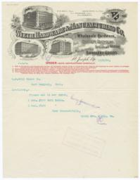 Wyeth Hardware & Manufacturing Co.. Letter - Recto