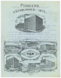 Thompson & Norris Company. Letter - Recto