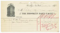 Brooklyn Daily Eagle. Bill - Recto