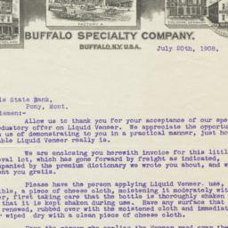 Buffalo Specialty Company. ...