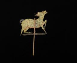 Yellow [goat] Rod Puppet