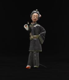 Female Peking Opera Figurine In Black