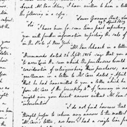 Document, 1819 May 01