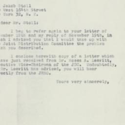 Letter: 1951 November 29