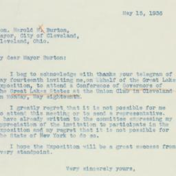 Letter: 1936 May 15