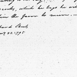 Document, 1795 January 22