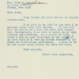 Letter: 1938 August 19