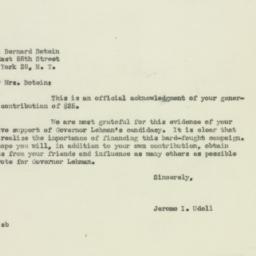 Letter: 1949 October 27
