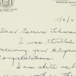 Letter: 1942 November 6