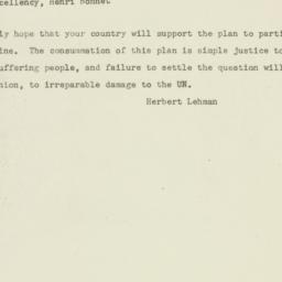 Telegram: 1947 November 26