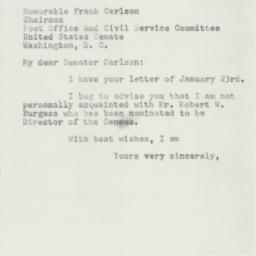 Letter: 1953 January 23