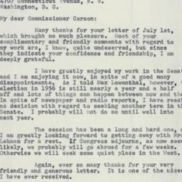 Letter: 1955 July 11