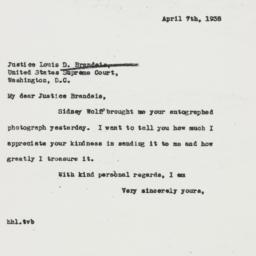 Letter: 1938 April 7