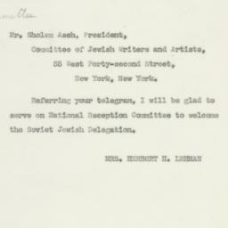 Letter: 1943 June 25
