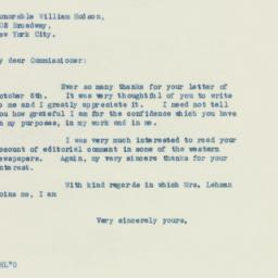 Invitation: 1938 October 11