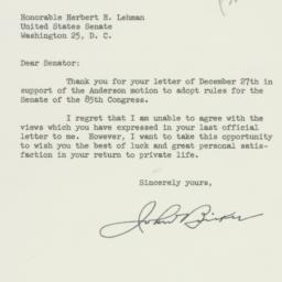 Letter: 1957 January 4