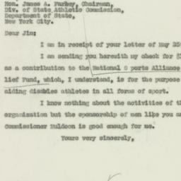 Letter: 1929 May 31