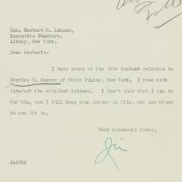 Letter: 1932 July 13