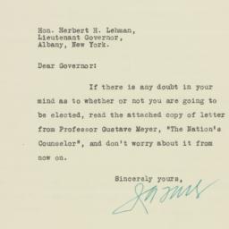 Letter: 1932 October 26