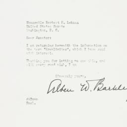 Letter: 1951 May 29