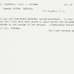 Letter: 1952 November 24
