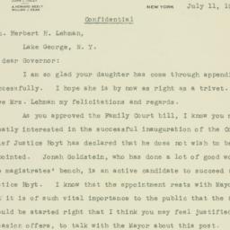 Letter: 1933 July 11