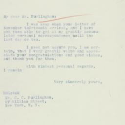 Letter: 1934 November 30