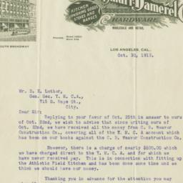 Cass-Smurr-Damerel Co.. Letter