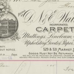 D. N. & E. Walter Co.. Bill
