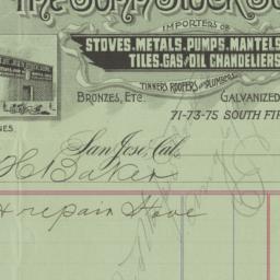 John Stock Sons. Bill