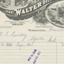 Walter Brewing Co.. Bill