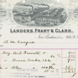 Landers, Frary & Clark. Bill