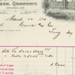 Norwalk Lock Company. Bill
