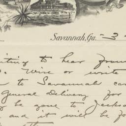 Chas F. Graham. Letter