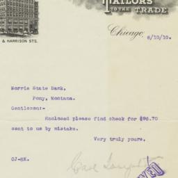Carl Joseph & Co.. Letter