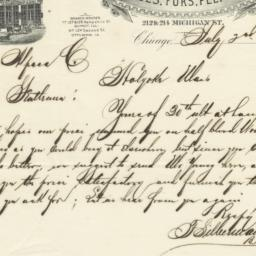 F. Silberman & Bro's. Letter