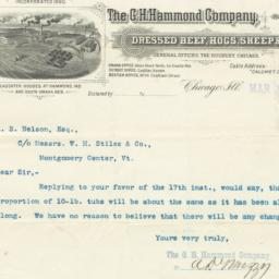 G. H. Hammond Company. Bill
