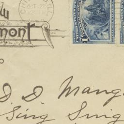 New Tremont. Envelope