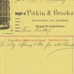 Pitkin & Brooks. Bill