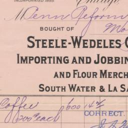 Steele-Wedeles Company. Bill