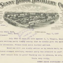 Sunny Brook Distillery Co.....
