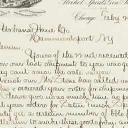 U.S. Distilling Co.. Letter