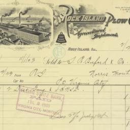Rock Island Plow Company. Bill